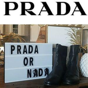 Prada Shoes - Prada leather booties